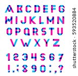 alphabet set fun geometric... | Shutterstock . vector #593520884