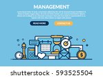 management concept for web page.... | Shutterstock .eps vector #593525504