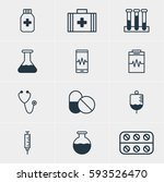 illustration of 12 medical... | Shutterstock . vector #593526470