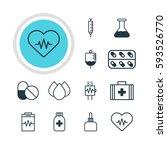 illustration of 12 medical... | Shutterstock . vector #593526770