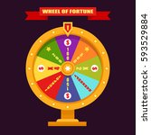 bright and gold fortune wheel.... | Shutterstock .eps vector #593529884