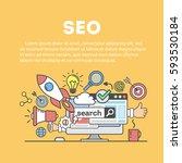 search engine optimization... | Shutterstock . vector #593530184