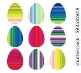 design geometric decorative egg ...   Shutterstock .eps vector #593532659