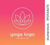 abstract flower design. line... | Shutterstock .eps vector #593533670