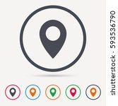location icon. map pointer... | Shutterstock .eps vector #593536790