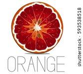 juicy vector vitamin fruit.... | Shutterstock .eps vector #593538518