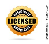 officially licensed gold seal... | Shutterstock .eps vector #593540624