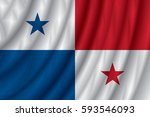 panama flag vector illustration. | Shutterstock .eps vector #593546093