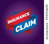 insurance claim arrow tag sign. | Shutterstock .eps vector #593553650