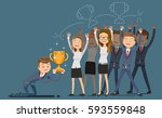 office award by chance. special ... | Shutterstock .eps vector #593559848