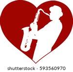 love jazz concept   vector | Shutterstock .eps vector #593560970