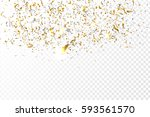 vector golden confetti on the... | Shutterstock .eps vector #593561570