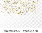 vector golden confetti on the... | Shutterstock .eps vector #593561570