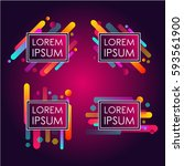 abstract retro background with... | Shutterstock .eps vector #593561900