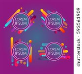 abstract retro background with... | Shutterstock .eps vector #593561909