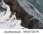 Aerial Image Of A Snowy Beach...