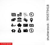 finance icons vector  flat... | Shutterstock .eps vector #593575418