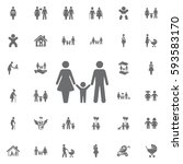 family icon on white background.... | Shutterstock .eps vector #593583170