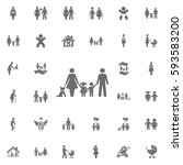 traditional family mom dad boy... | Shutterstock .eps vector #593583200