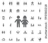 girl and boy icon on white... | Shutterstock .eps vector #593583218