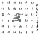 baby carriage icon on white...   Shutterstock .eps vector #593583278