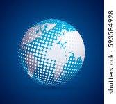 vector modern techology concept ... | Shutterstock .eps vector #593584928