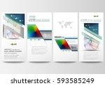 flyers set  modern banners.... | Shutterstock .eps vector #593585249