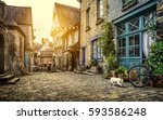 panoramic view of a charming... | Shutterstock . vector #593586248