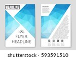 abstract vector layout... | Shutterstock .eps vector #593591510