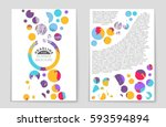 abstract vector layout... | Shutterstock .eps vector #593594894