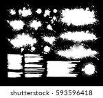 set of blots. vector   Shutterstock .eps vector #593596418