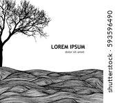 Tree Hills Landscape. Vector
