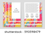 abstract vector layout... | Shutterstock .eps vector #593598479