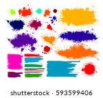 set of blots. vector | Shutterstock .eps vector #593599406