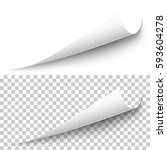vector realistic white paper... | Shutterstock .eps vector #593604278