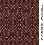 geometric repeating vector... | Shutterstock .eps vector #593608079