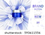 premium cream ads. blue... | Shutterstock .eps vector #593611556
