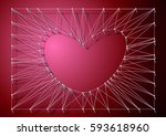 sting art vector   heart | Shutterstock .eps vector #593618960