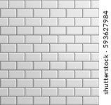 white brick background  3d...   Shutterstock . vector #593627984