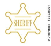 a simple vector sheriff's badge ... | Shutterstock .eps vector #593635094