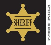 a simple vector sheriff's badge ... | Shutterstock .eps vector #593635106