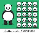 panda bear cartoon emotion...   Shutterstock .eps vector #593638808