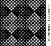 halftone seamless pattern ... | Shutterstock .eps vector #593640944