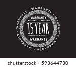 warranty 15 year icon vector | Shutterstock .eps vector #593644730