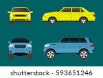 car vehicle transport type... | Shutterstock .eps vector #593651246