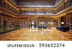 luxury library | Shutterstock . vector #593652374