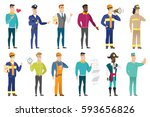 african businessman with his... | Shutterstock .eps vector #593656826
