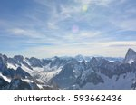 alps mountain range | Shutterstock . vector #593662436
