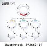 digital diagram style. diagram... | Shutterstock .eps vector #593663414