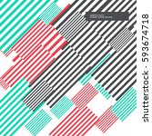 colorful abstract stripes... | Shutterstock .eps vector #593674718